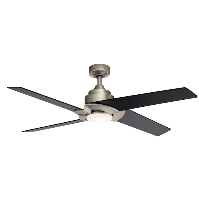 Kichler Malay Brushed Nickel 52 In Led Indoor Ceiling Fan 4 Blade In The Ceiling Fans Department At Lowes Com