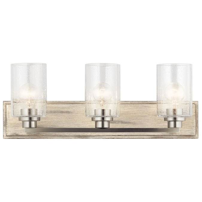 Kichler Amity 3 Light Nickel Rustic Vanity Light In The Vanity Lights Department At Lowes Com