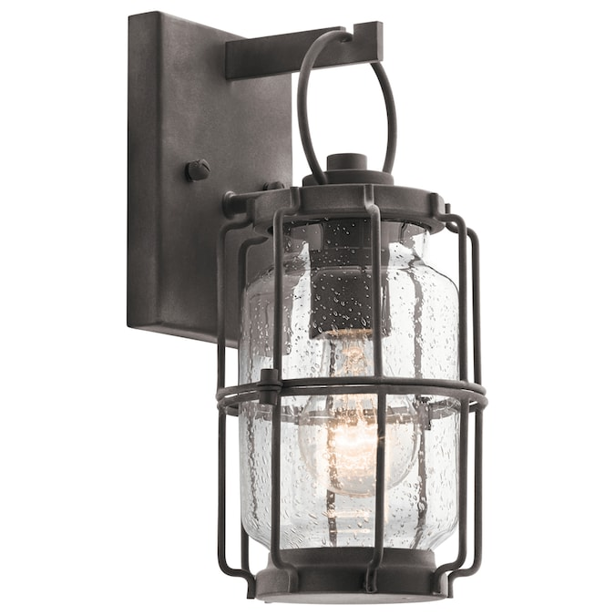 Kichler Montview 11 38 In H Weathered Zinc Medium Base E 26 Outdoor Wall Light In The Outdoor Wall Lights Department At Lowes Com