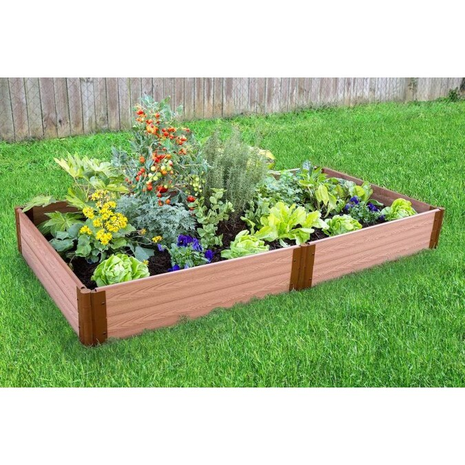 Frame It All 48 In W X 96 In L X 11 In H Brown Composite Raised Garden Bed In The Raised Garden Beds Department At Lowes Com