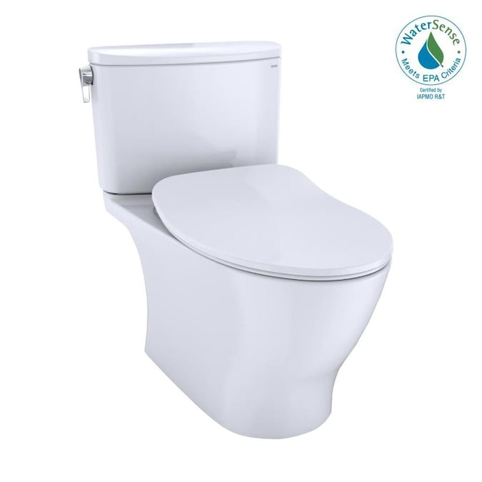 Toto Nexus Cotton White Watersense Elongated Chair Height 2 Piece Toilet 12 In Rough In Size Ada Compliant In The Toilets Department At Lowes Com