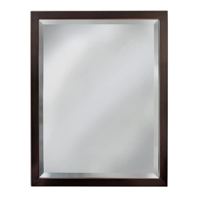 Allen Roth 24 In Oil Rubbed Bronze Rectangular Bathroom Mirror In The Bathroom Mirrors Department At Lowes Com