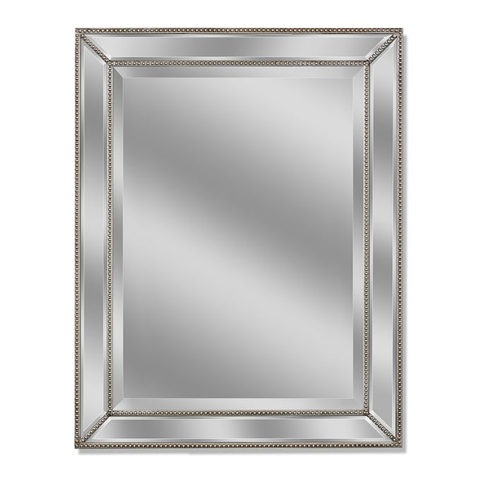 Style Selections 41 In L X 29 In W Silver Beveled Wall Mirror In The Mirrors Department At Lowes Com
