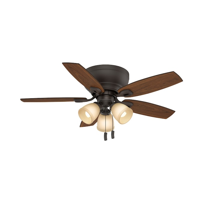 Casablanca Durant Maiden Bronze 44 In Indoor Flush Mount Ceiling Fan With Light Kit 5 Blade In The Ceiling Fans Department At Lowes Com