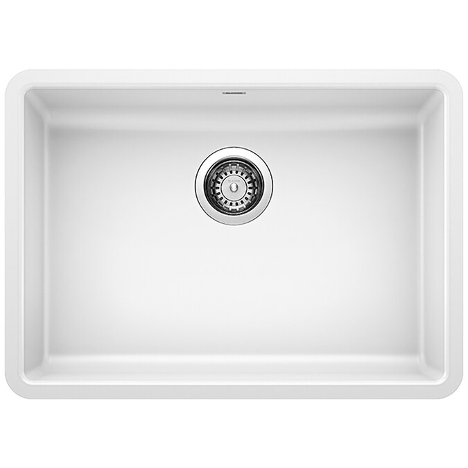 Blanco Precis Undermount 25 In X 18 In White Single Bowl Kitchen Sink In The Kitchen Sinks Department At Lowes Com