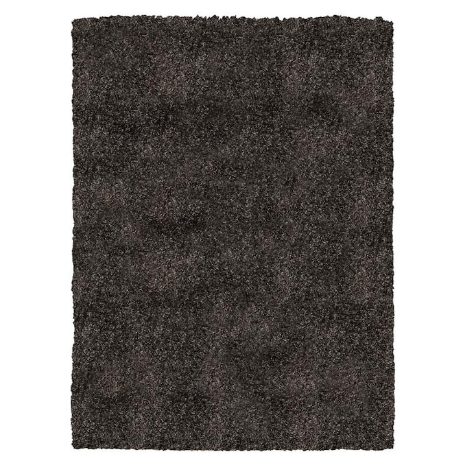 Safavieh California Shag 4 X 6 Black Solid Area Rug In The Rugs Department At Lowes Com