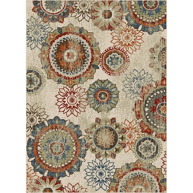 Oriental Weavers Of America Carson 5 X 7 Multi Indoor Medallion Bohemian Eclectic Area Rug In The Rugs Department At Lowes Com