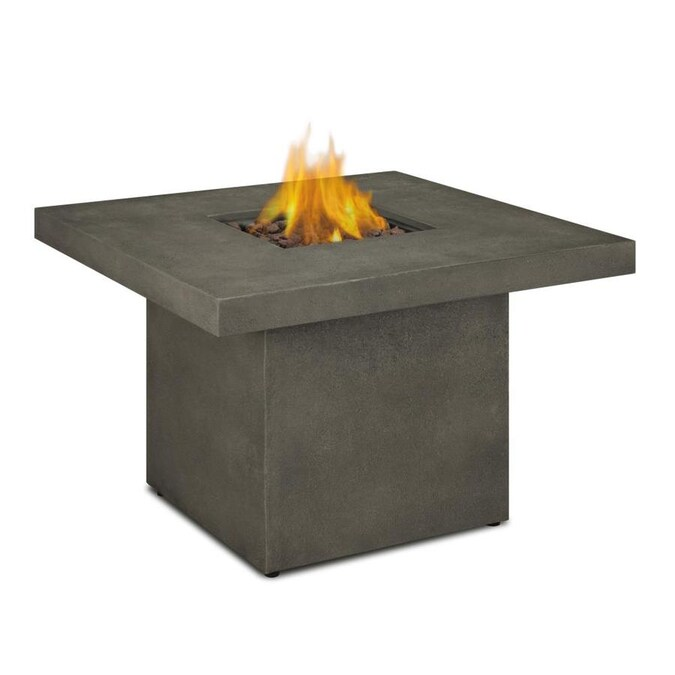 Real Flame Ventura 36 In W 30000 Btu Glacier Gray Portable Tabletop Composite Propane Gas Fire Table In The Gas Fire Pits Department At Lowes Com