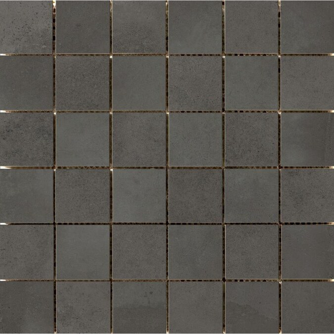 Emser Borigni 6 Pack Black Porcelain Border Tile 12 In X 12 In In The Accent Trim Tile Department At Lowes Com