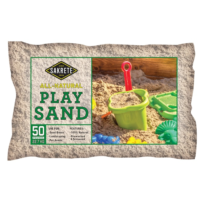 Sakrete 0 5 Cu Ft 50 Lb Play Sand In The Sand Department At Lowes Com