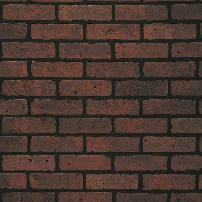 Embossed Red Brick Wall Panel In The Wall Panels Department At Lowes Com