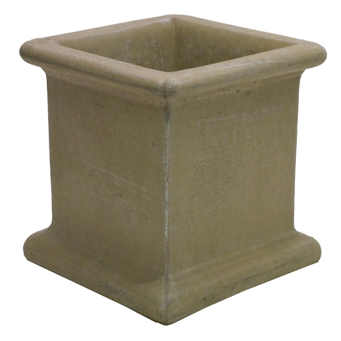 14 In W X 14 In H Desert Sand Concrete Planter In The Pots Planters Department At Lowes Com