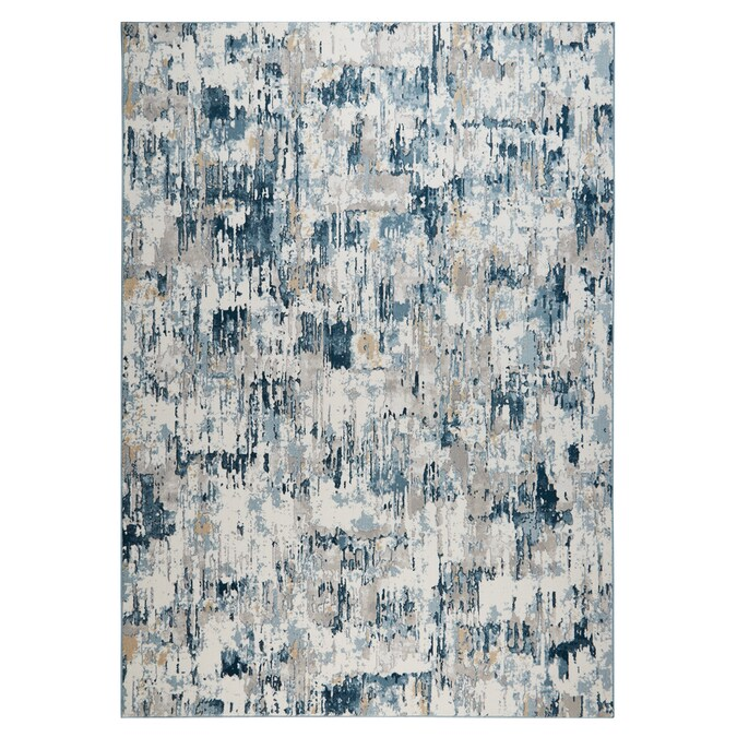 Home Dynamix Premier Blue Rain 8 X 10 Gray Blue Indoor Abstract Area Rug In The Rugs Department At Lowes Com
