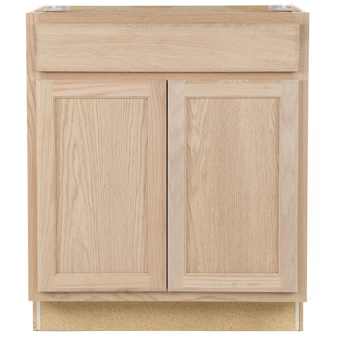 Project Source 30 In W X 35 In H X 23 75 In D Natural Unfinished Sink Base Stock Cabinet In The Stock Kitchen Cabinets Department At Lowes Com