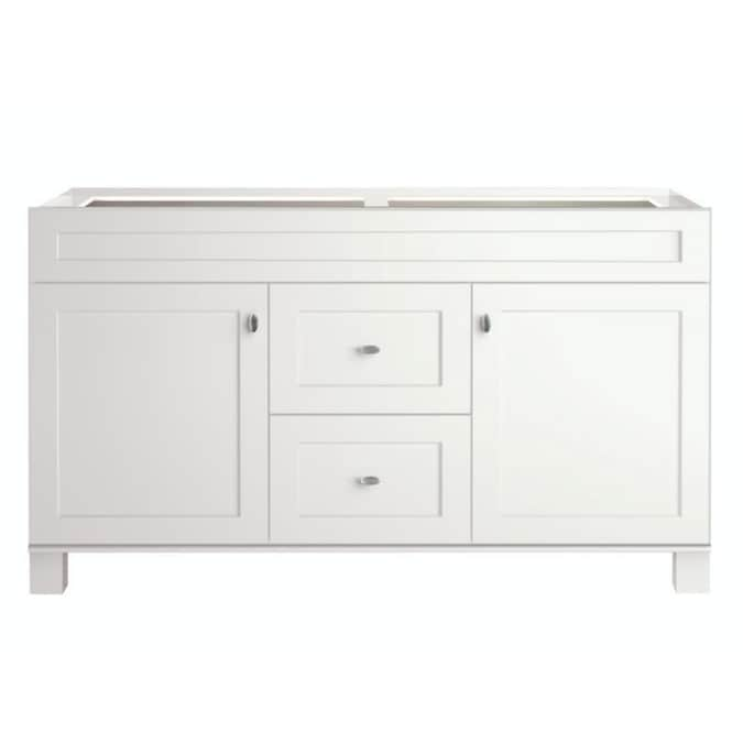 Diamond Now Palencia 60 In White Bathroom Vanity Cabinet In The Bathroom Vanities Without Tops Department At Lowes Com