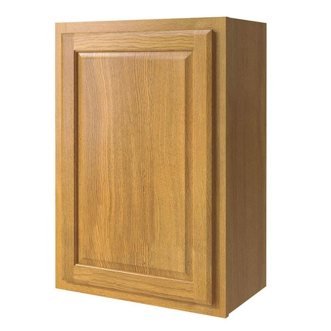 Diamond Now Portland 21 In W X 30 In H X 12 In D Wheat Door Wall Stock Cabinet In The Stock Kitchen Cabinets Department At Lowes Com