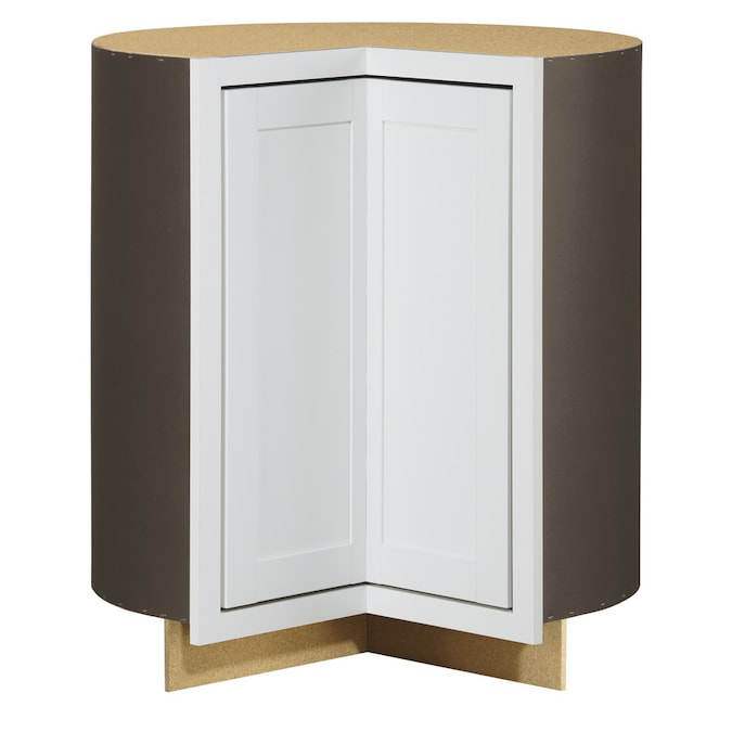 Diamond Now Arcadia 36 In W X 35 In H X 23 75 In D White Lazy Susan Corner Base Stock Cabinet In The Stock Kitchen Cabinets Department At Lowes Com