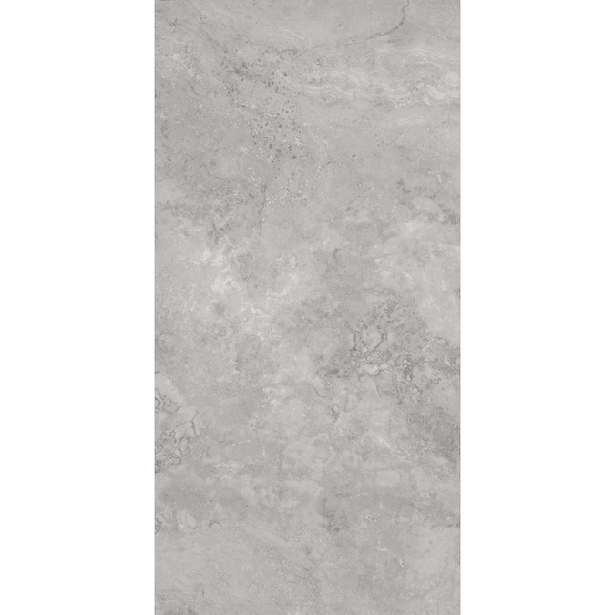 City Gray 12 In X 24 In Glazed Porcelain Stone Look Floor Tile In The Tile Department At Lowes Com