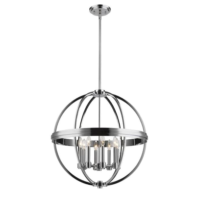 Artcraft Roxbury 8 Light Chrome Transitional Chandelier In The Chandeliers Department At Lowes Com