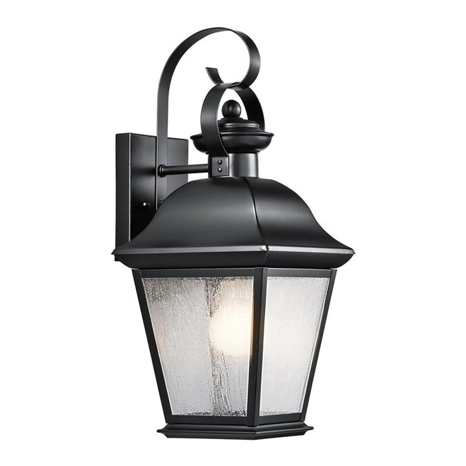 Kichler Mount Vernon 16 75 In H Black Medium Base E 26 Outdoor Wall Light In The Outdoor Wall Lights Department At Lowes Com