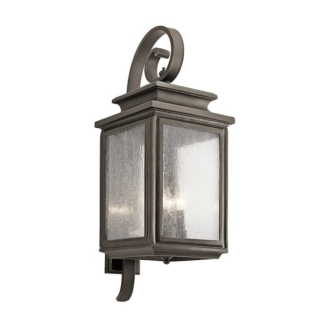 Eglo Pinedale 22 36 In H Black Candelabra Base E 12 Outdoor Wall Light In The Outdoor Wall Lights Department At Lowes Com