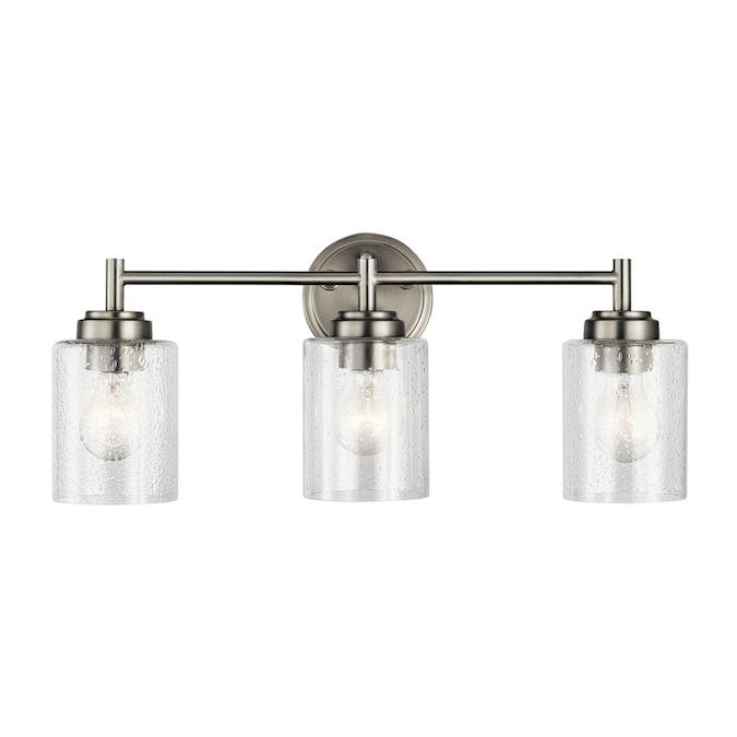 Kichler Winslow 3 Light Nickel Transitional Vanity Light In The Vanity Lights Department At Lowes Com