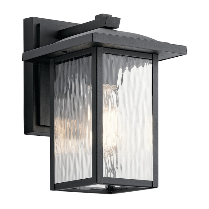 Kichler Capanna 10 25 In H Textured Black Medium Base E 26 Outdoor Wall Light In The Outdoor Wall Lights Department At Lowes Com