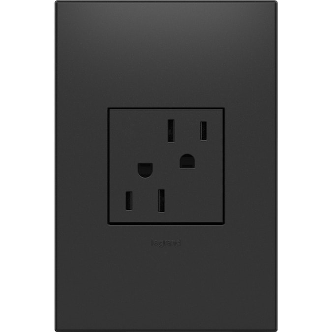Legrand Adorne Graphite 15 Amp Square Tamper Resistant Residential Usb Outlet In The Electrical Outlets Department At Lowes Com
