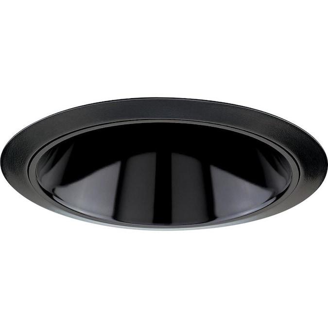 Progress Lighting 6 In Black Alzak Reflector Recessed Light Trim In The Recessed Light Trim Department At Lowes Com