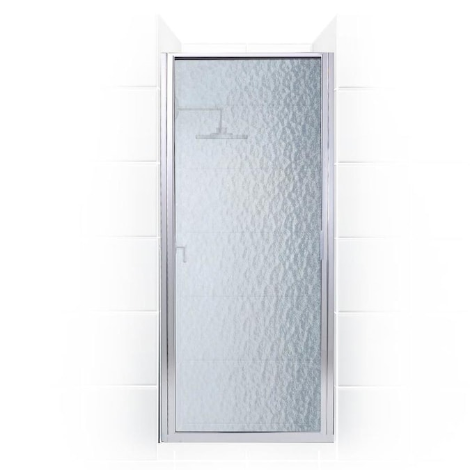 Coastal Shower Doors Paragon 74 In H X 26 In To 26 75 In W Framed Hinged Chrome Shower Door Frosted Glass In The Shower Doors Department At Lowes Com