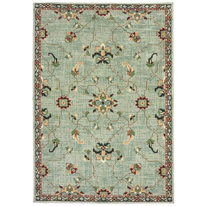 Archer Lane Gaffney 5 X 8 Gold Indoor Geometric Area Rug In The Rugs Department At Lowes Com