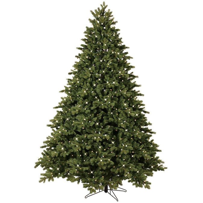 Ge 7 5 Ft Norway Spruce Pre Lit Traditional Artificial Christmas Tree With 800 Multi Function Color Changing Led Lights In The Artificial Christmas Trees Department At Lowes Com
