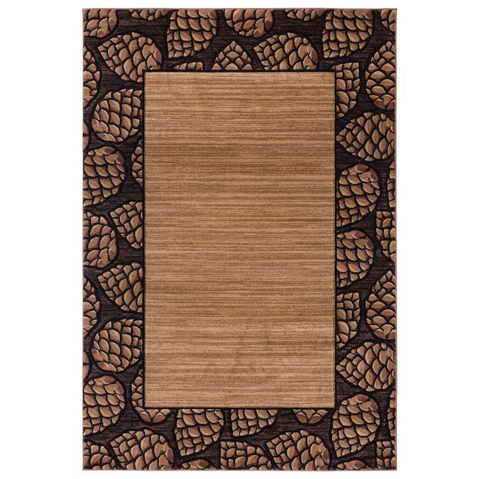 United Weavers Of America Cottage Pine Border 7 Ft 10 In X 10 Ft 6 In Area Rug In The Rugs Department At Lowes Com