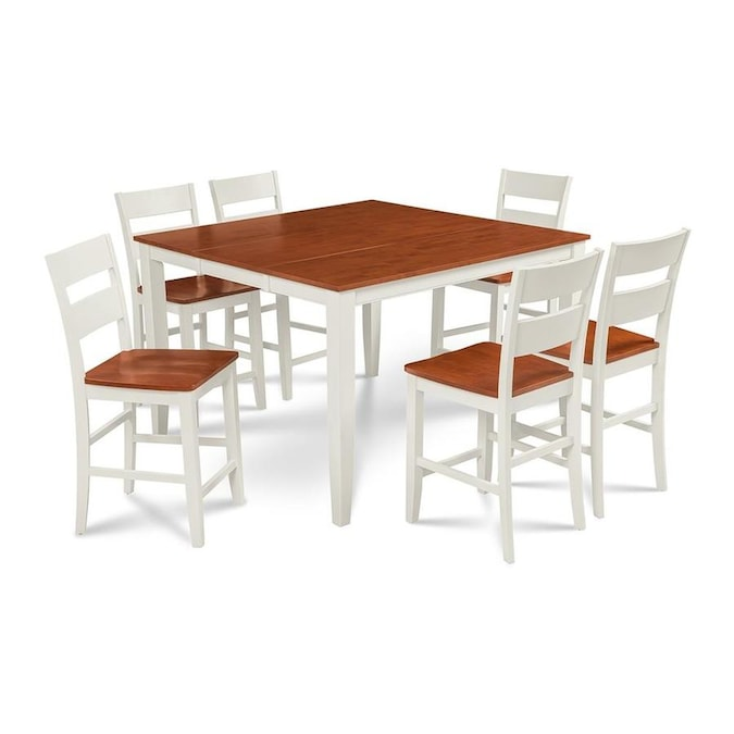 M D Furniture Sunderland White Cherry Dining Set With Counter Table In The Dining Room Sets Department At Lowes Com
