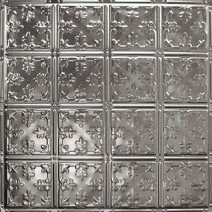 American Tin Ceilings 24 In X 24 In Stainless Steel Backsplash Panels In The Backsplash Panels Department At Lowes Com