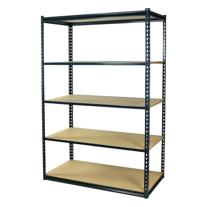 Storage Concepts 18 In D X 36 In W X 72 In H 5 Tier Steel Utility Shelving Unit In The Freestanding Shelving Units Department At Lowes Com
