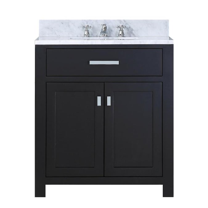 Water Creation Madison 30 In Espresso Undermount Single Sink Bathroom Vanity With Carrara White Natural Marble Top In The Bathroom Vanities With Tops Department At Lowes Com