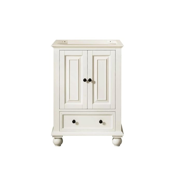 Avanity Thompson 24 In French White Bathroom Vanity Cabinet In The Bathroom Vanities Without Tops Department At Lowes Com
