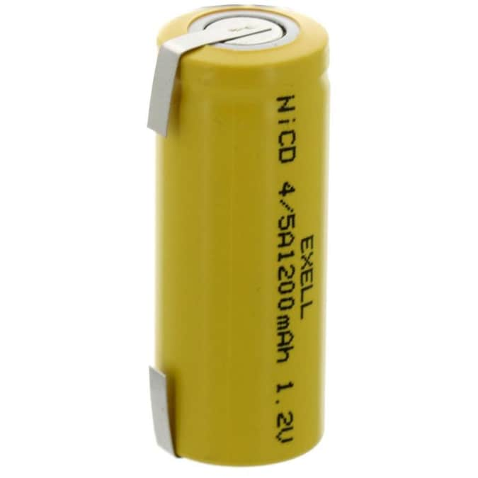 Exell Battery Rechargeable Nickel Cadmium Nicd 4 5a Assembly Cell Batteries In The Assembly Cell Batteries Department At Lowes Com