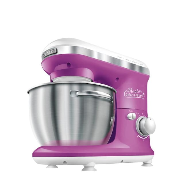 Sencor Stm3625vt Stand Mixer 300w With Pouring Shield Violet In The Stand Mixers Department At Lowes Com