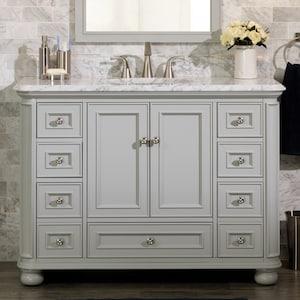 Scott Living Wrightsville 48 In Light Gray Single Sink Bathroom