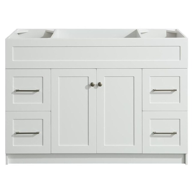 Ariel Hamlet 48 In White Bathroom Vanity Cabinet In The Bathroom Vanities Without Tops Department At Lowes Com