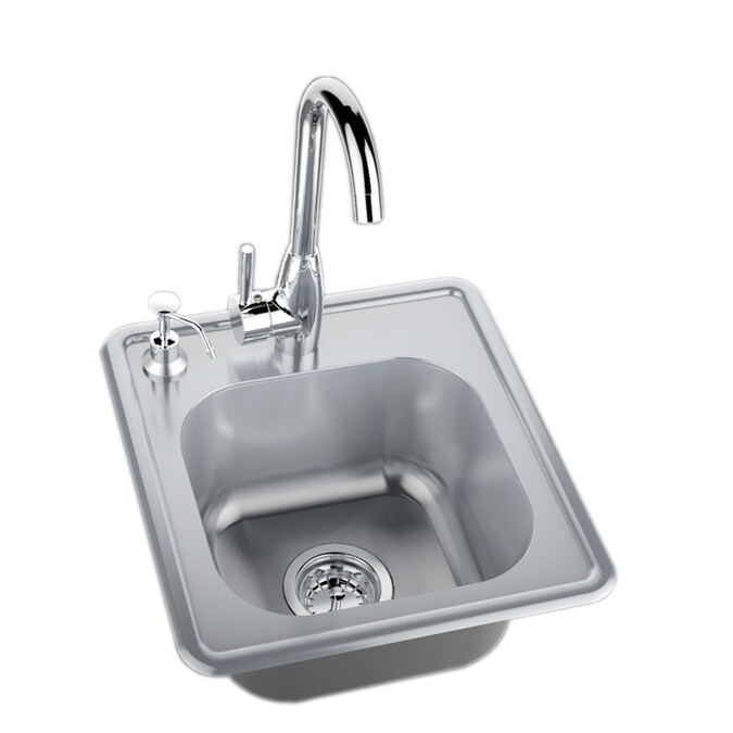 Sunstone Classic Series 17 5 In L X 16 25 In W Stainless Steel 2 Hole Stainless Steel Drop In Corner Install Commercial Residential Bar Sink In The Bar Prep Sinks Department At Lowes Com