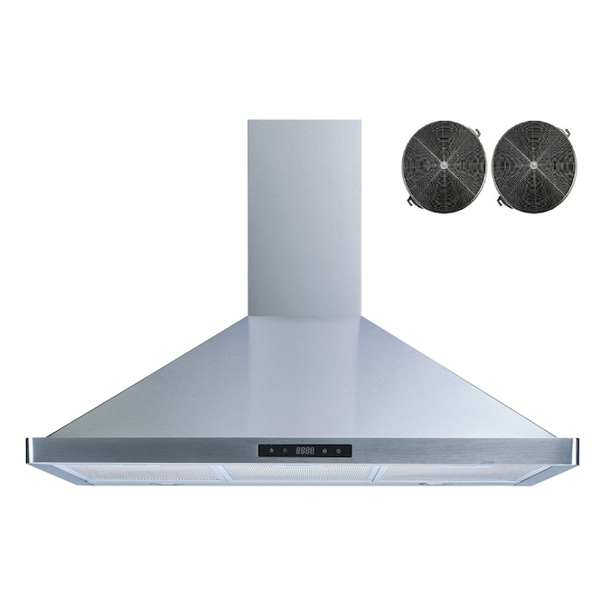 Winflo 36 In Convertible Stainless Steel Wall Mounted Range Hood With Charcoal Filter In The Wall Mounted Range Hoods Department At Lowes Com