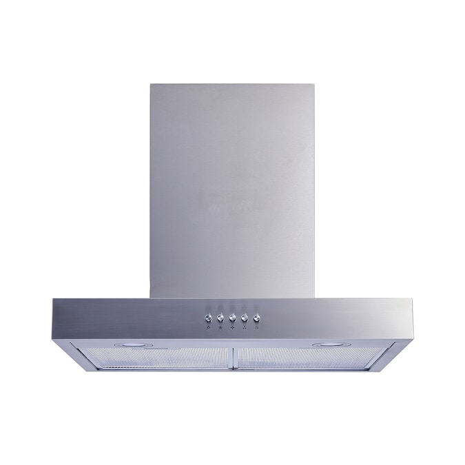 Winflo 36 In Convertible Stainless Steel Wall Mounted Range Hood In The Wall Mounted Range Hoods Department At Lowes Com