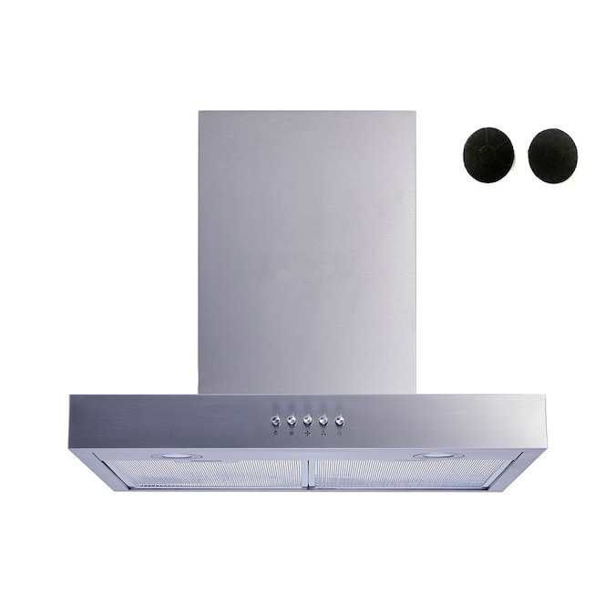 Winflo 30 In Convertible Stainless Steel Wall Mounted Range Hood With Charcoal Filter In The Wall Mounted Range Hoods Department At Lowes Com