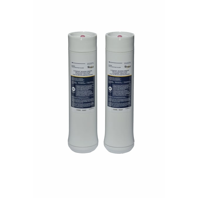 Whirlpool Wheerf 2 Pack Carbon Block Under Sink Replacement Filter In The Replacement Water Filters Cartridges Department At Lowes Com