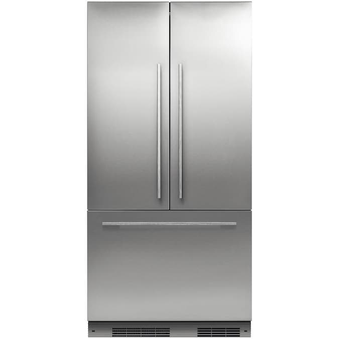 Fisher Paykel 16 8 Cu Ft Counter Depth Built In French Door Refrigerator With Ice Maker Fingerprint Resistant Custom Panel Ready Energy Star In The French Door Refrigerators Department At Lowes Com