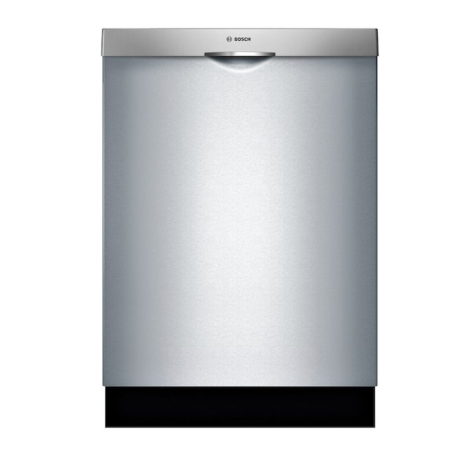 Bosch 300 48 Decibel Top Control 24 In Built In Dishwasher Stainless Steel Energy Star In The Built In Dishwashers Department At Lowes Com