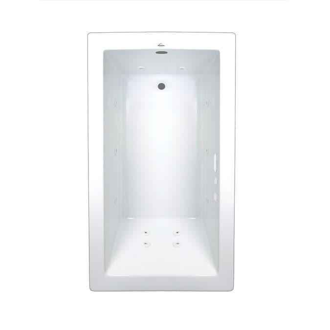 Kohler Underscore Rectangle 36 In W X 66 In L Black Acrylic Rectangular Reversible Drain Drop In Soaking Bathtub In The Bathtubs Department At Lowes Com